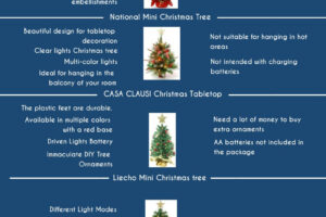 Best Mini Christmas Tree Infographic